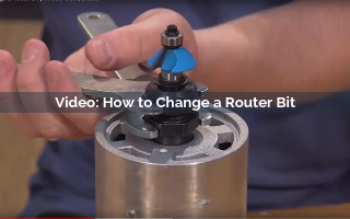 How to Change a Router Bit Video Screenshot