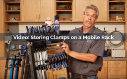 storing clamps on a mobile rack