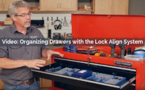 organizing drawers with the lock align system video screenshot