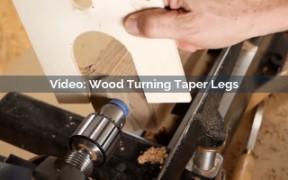 Wood Turning Taper Legs Video Screenshot