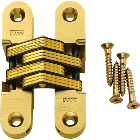 Soss concealed brass hinges