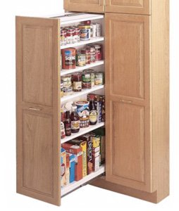 Example of a heavy duty slide capable of holding open a heavy pantry drawer