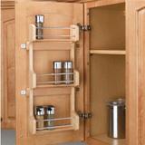 Spice rack hanging inside cabinet door