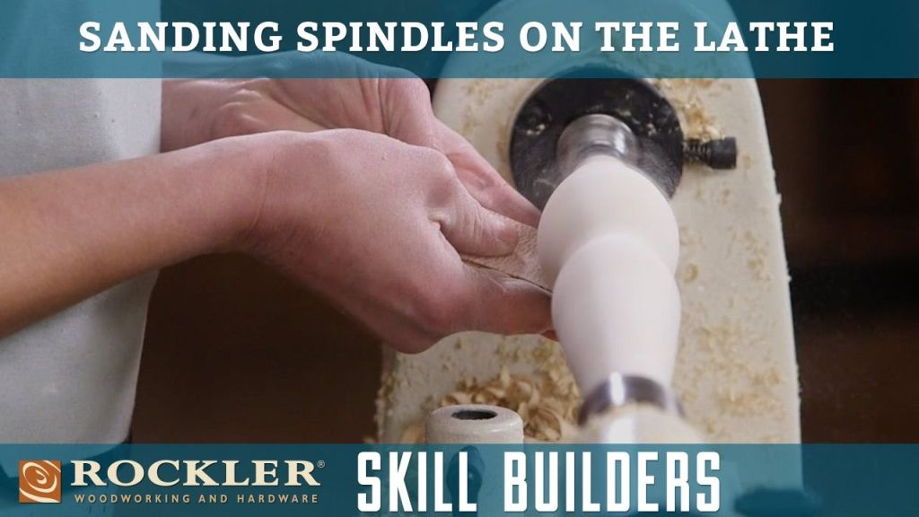 Using a lathe to assist in sanding a woodturning project