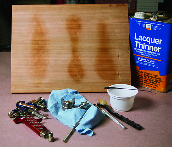 Proper and problematic spray finishing patterns