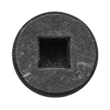 Woodworking screw with a square recess in its head