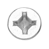 Woodworking screw with a squared cross style recess head