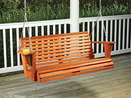 Carefree summer porch swing