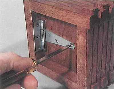 Adding hinge to bird house floor