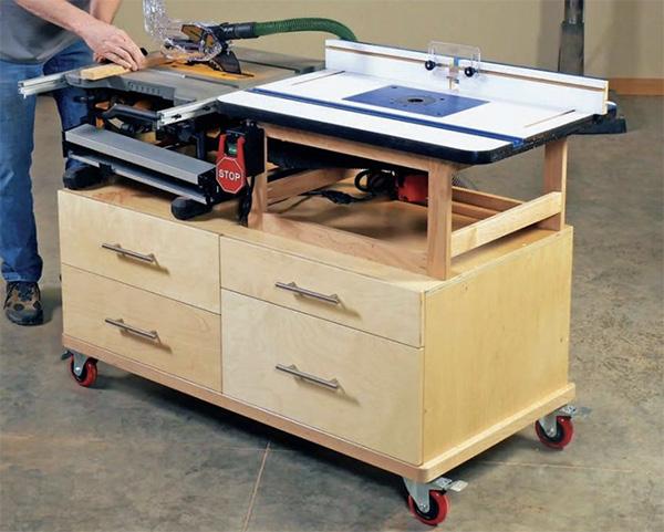 Compact benchtop tool cart