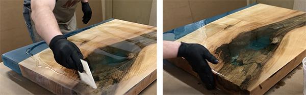 applying tabletop epoxy