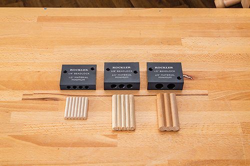 Three sizes of beadlock joints and associated tenons