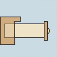 Diagram of a drawer with a three quarters extension