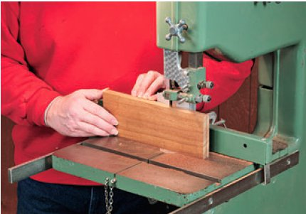 Resawing stock for slats