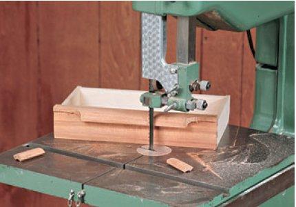 Cutting away Drawer Pull