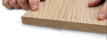 Square, flat edges on board created by a jointer
