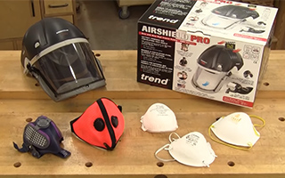 selection of dust masks sitting on a table
