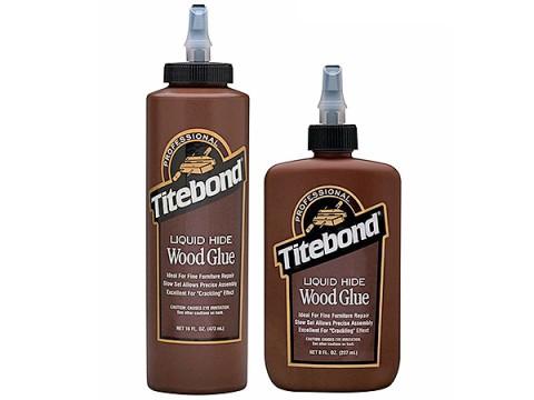 Titebond liquid hide glue bottles