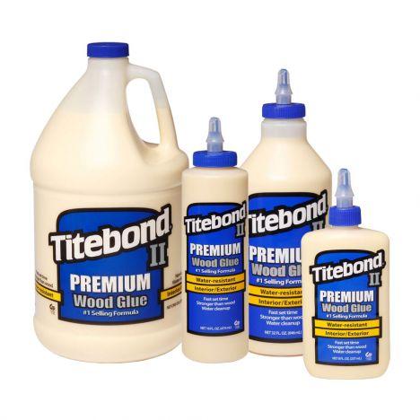 Titebond ii glue bottles of various sizes