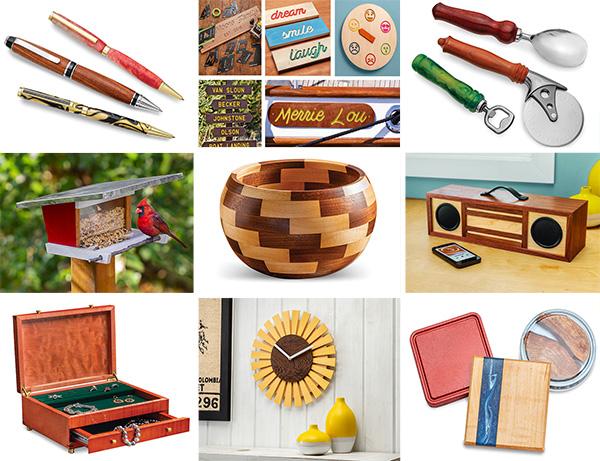 variety of handmade wood gifts