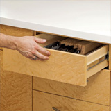 Opening a drawer with a touch-to-open slide