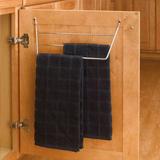 Behind cabinet door dish towel rack