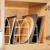 Cabinet dividing rack for large tray storage