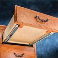 Example of a drawer mounted on an undermount slide