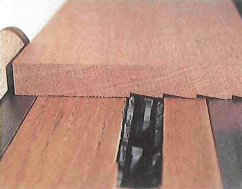 Cutting shingle shapes with a dado blade
