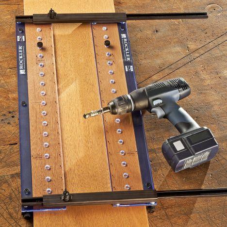 Rockler shelf pin drilling jig
