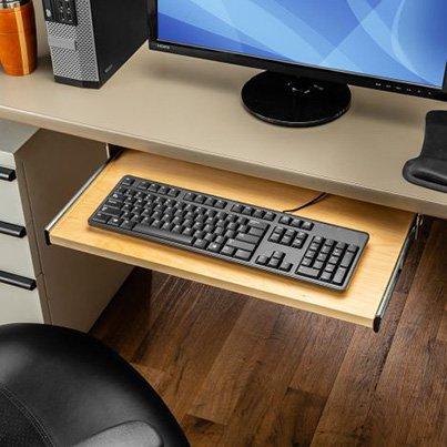 Drawer slides made for holding a keyboard under a desk