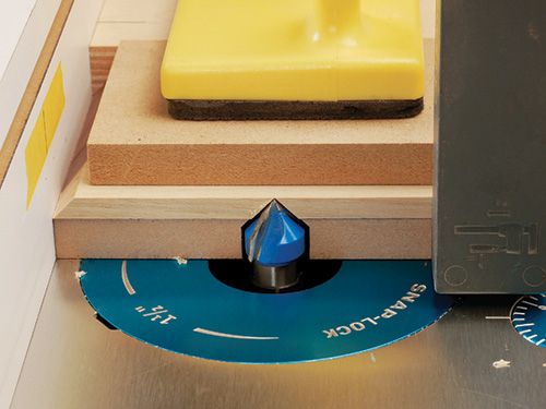 using push pad for wood router safety