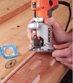 using ridgid trim router for mortising inlays