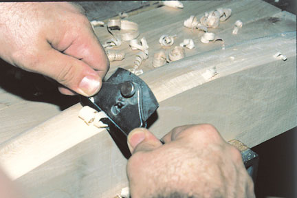 Using a spokeshave is to trim edging around a curve