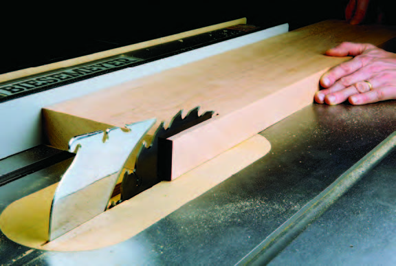 Cutting a long and thick panel with a table saw
