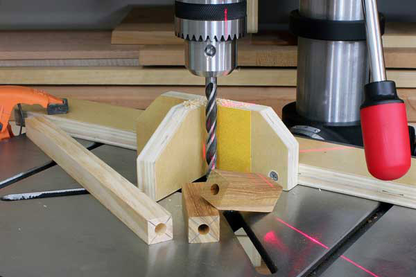 Vertical alignment drill press jig project