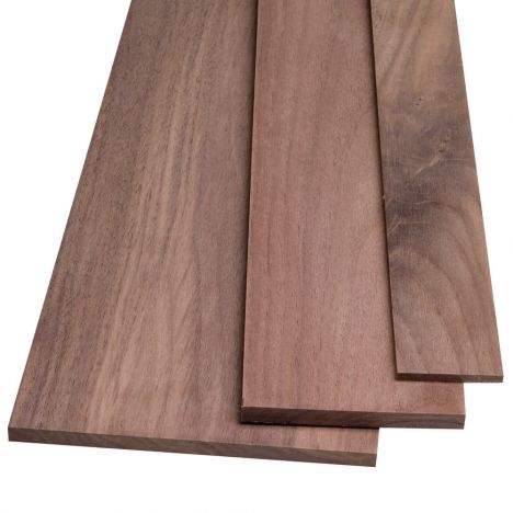 One half inch thick walnut lumber