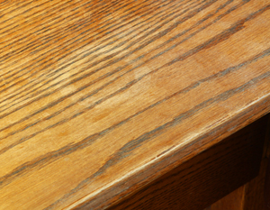 White ring damage in a wood finish