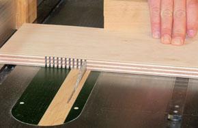 bending kerfed wood