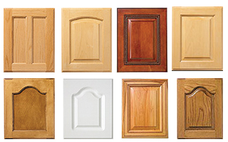 selection of raised panel cabinet doors