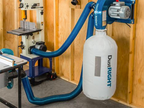Dust right dust collection system