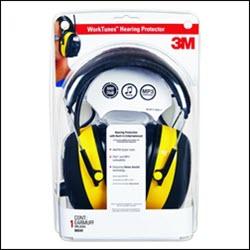 3m plastic packaging containing worktunes headphones