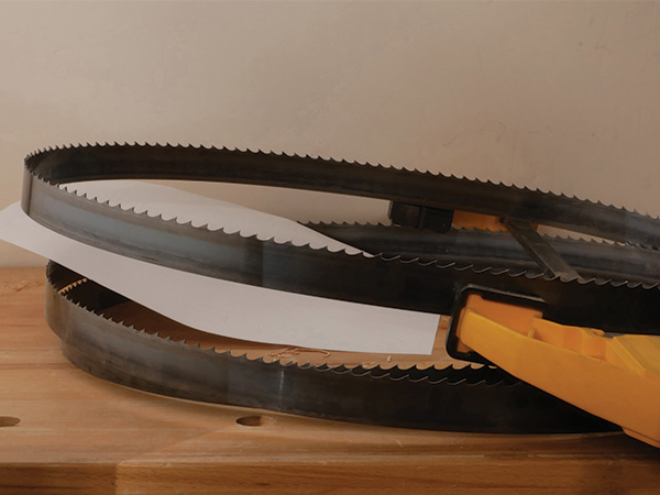 Coiled band saw blade