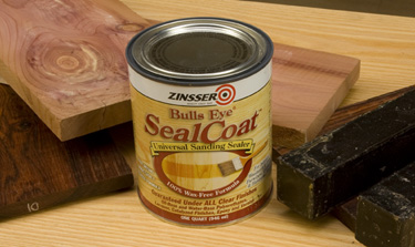 Examples of wood sealed with Zinsser Seal Coat