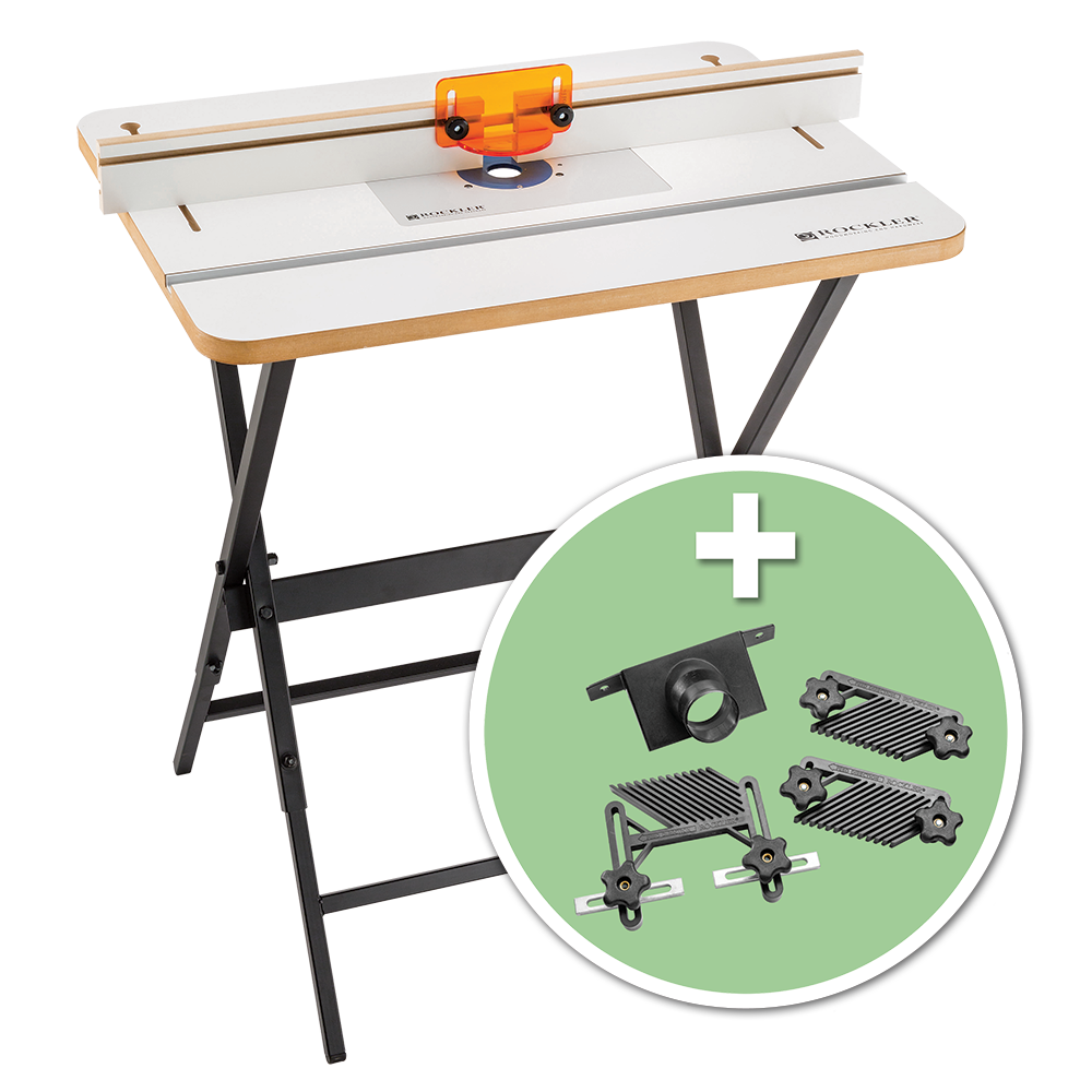 Complete basic router table kit with accessory