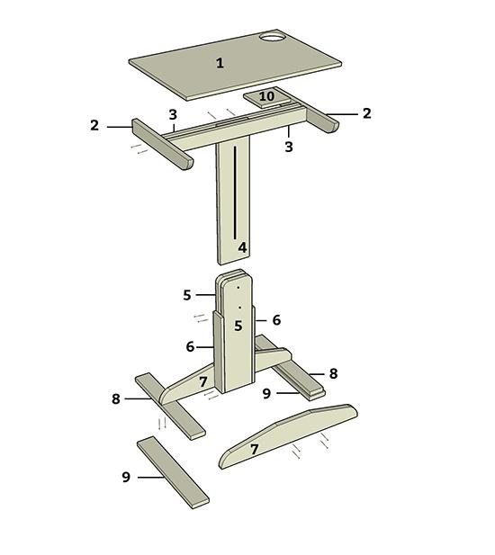 laptop desk project plan