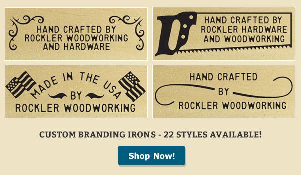 wood branding iron styles