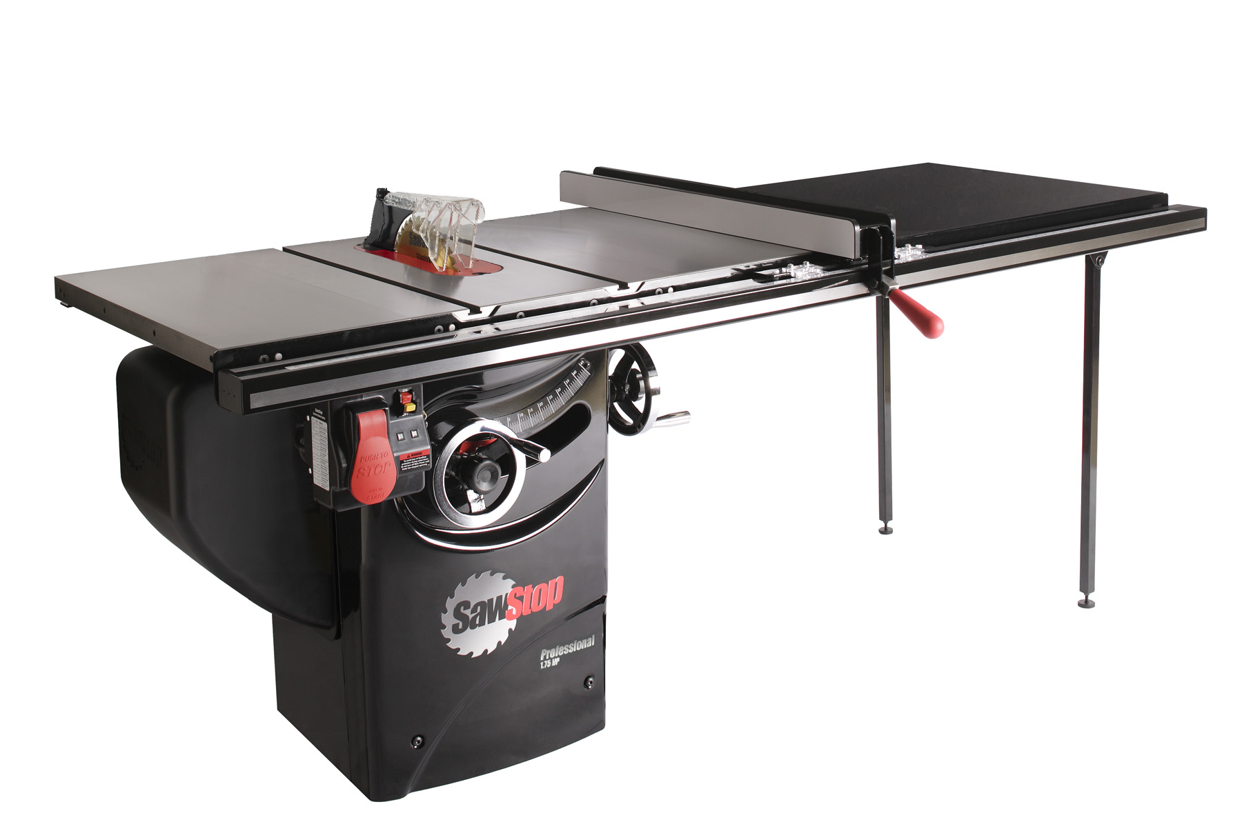 Sawstop 175 hp professional table saw w52 fence rails and sawstop 175 hp professional table saw w52 fence rails and extension table pcs175 tgp252 rockler woodworking and hardware keyboard keysfo Choice Image