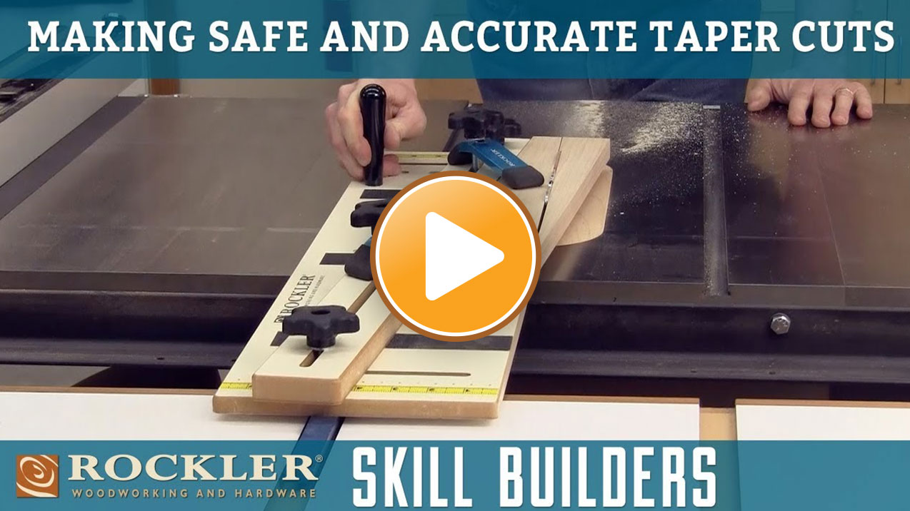 How to Make Safe Taper Cuts Using a Table Saw