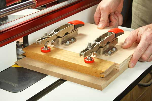 Making a coping cut on toggle clamp jig